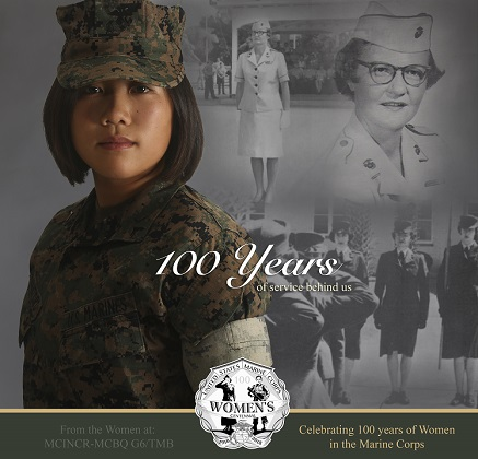 Celebrating 100 years of Women in the Marine Corps