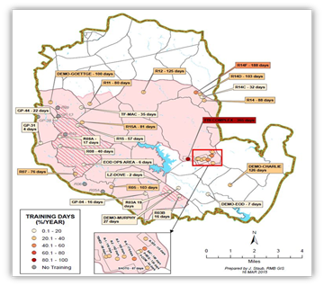 50 975 Acres Of Ranges And Training Areas With 15 000 Of Special Use Aire